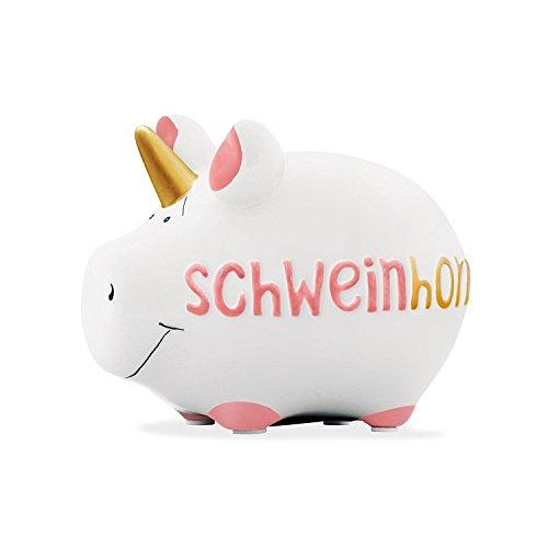 KCG Kleinschwein Keramik Sparschwein SCHWEINHORN / ca. 12.5 cm x 9 cm