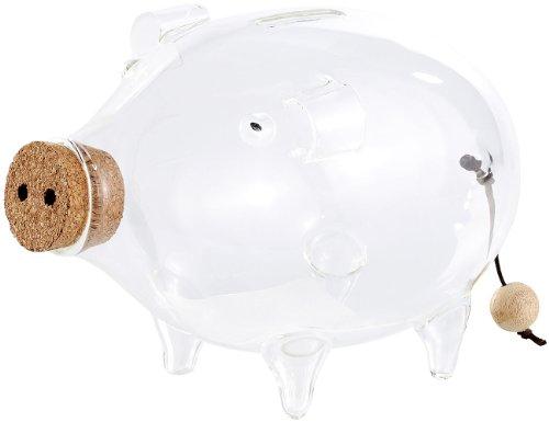 Carlo Milano Spardosen: Deko XL Sparschwein aus glas, 21 cm (Spardose groß Glas)