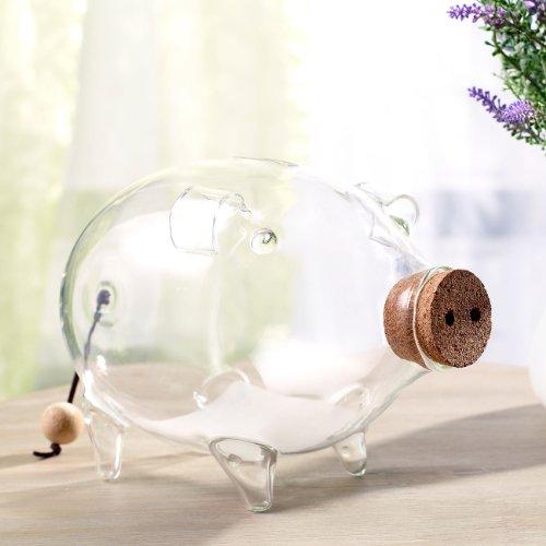 Carlo Milano Spardosen: Deko XL Sparschwein aus glas, 21 cm (Spardose groß Glas) - 3