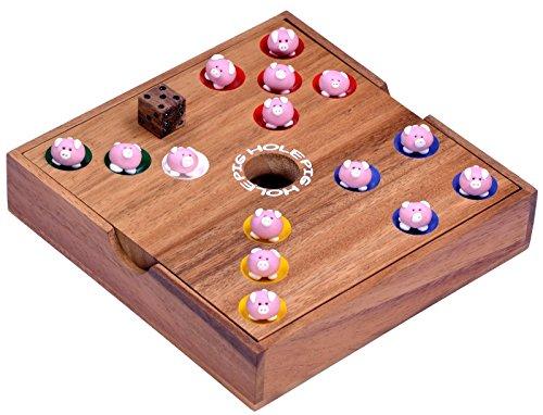 Logoplay Holzspiele Pig Big Schweinchenspiel - Würfelspiel - Gesellschaftsspiel - Brettspiel aus Holz - 2